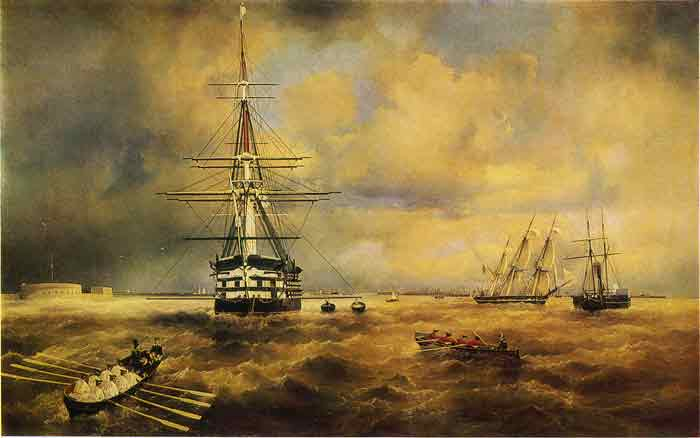 Oil painting for sale:The Kronstadt Roadstead, 1840
