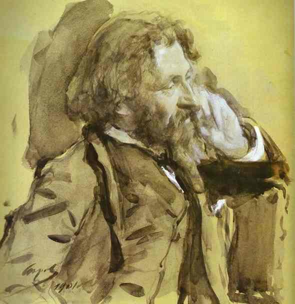 Oil painting:Portrait of the Artist Ilya Repin. 1901