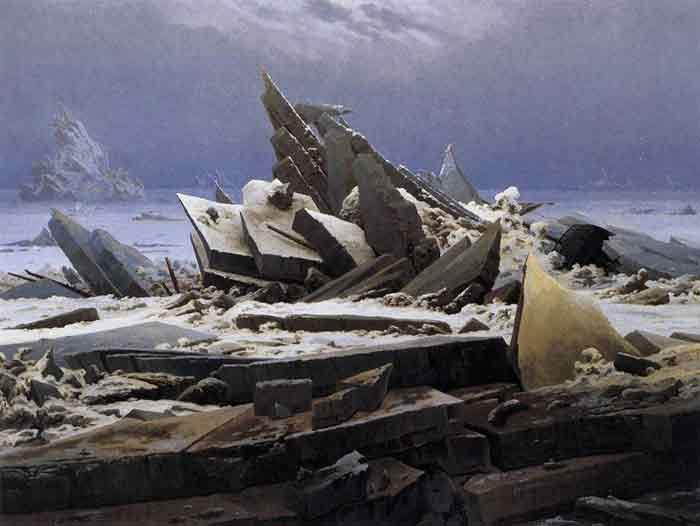 Oil painting for sale:The Sea of Ice, 1824
