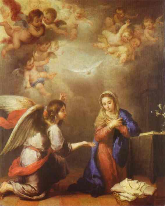 Oil painting:Annunciation. c.1660