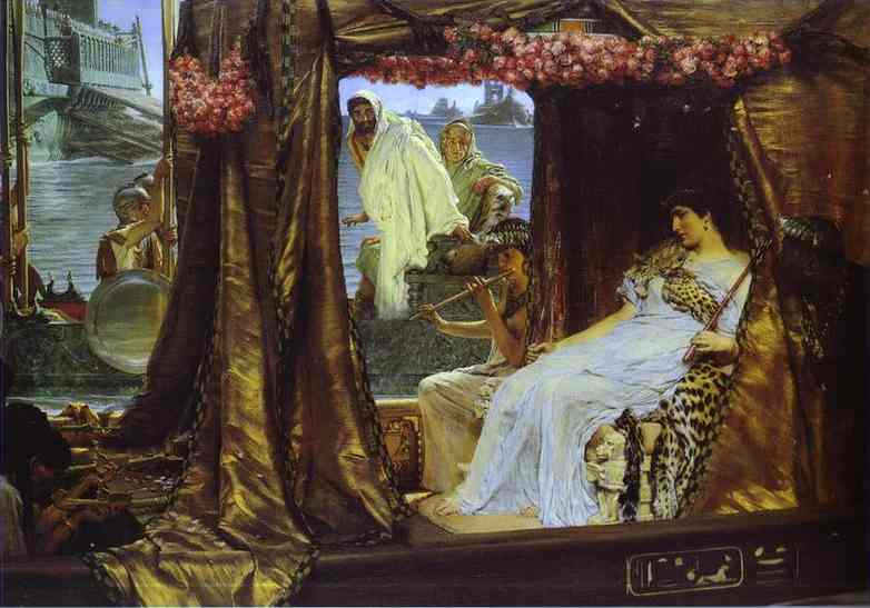 Oil painting:Anthony and Cleopatra. 1885