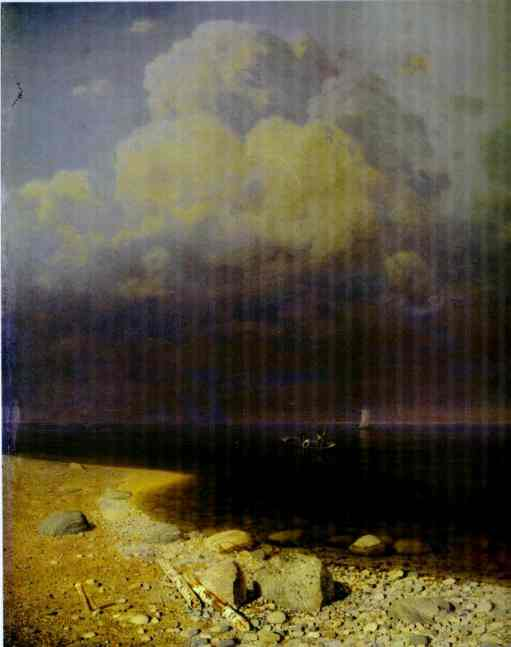 Oil painting:Lake Ladoga. 1873