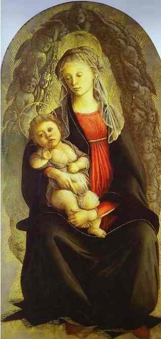 Oil painting:Madonna in Glory. c.1469