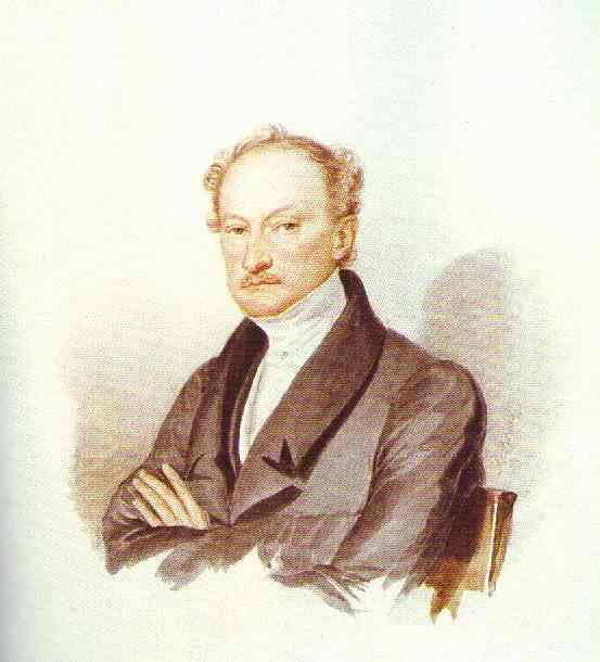 Oil painting:Male Portrait. 1830