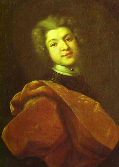 Oil painting:Portrait of Baron S. G. Stroganoff. 1726