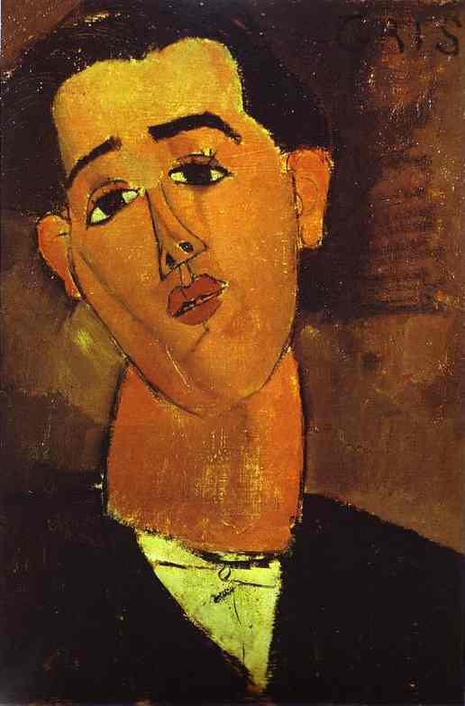 Oil painting:Portrait of Juan Gris. 1915