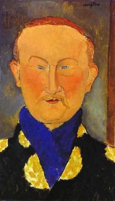 Oil painting:Portrait of Leon Bakst. 1917