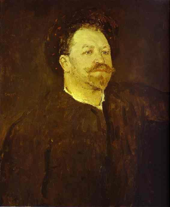Oil painting:Portrait of the Italian Singer Francesco Tamagno. 1891