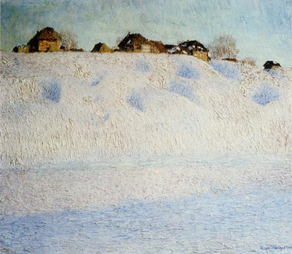 Oil painting:Snowdrifts. 1904