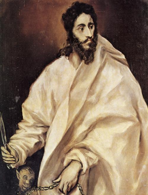Oil painting:St. Bartholomew. c. 1610-1614