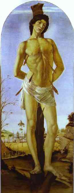 Oil painting:St. Sebastian. 1474