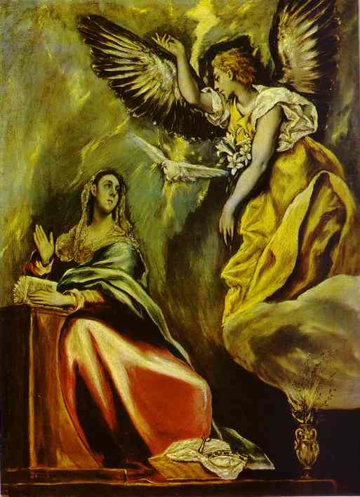 Oil painting:The Annunciation. 1600s