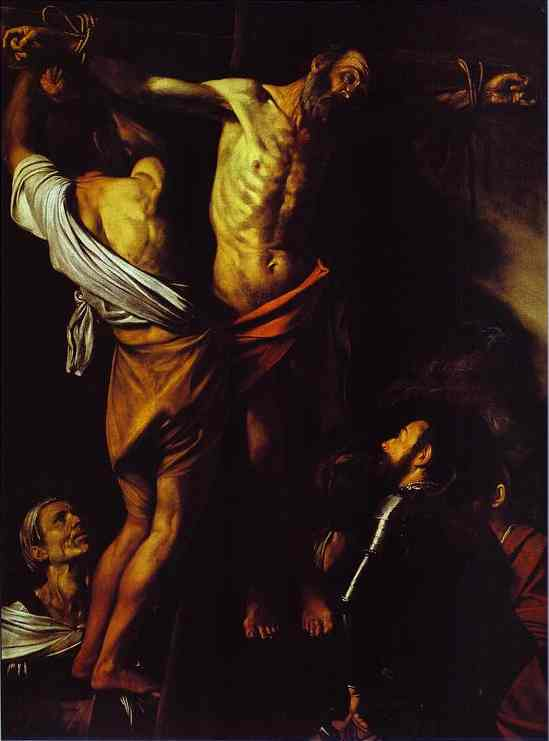 Oil painting:The Cricifixion of St. Andrew. c.1609