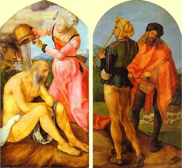 Oil painting:The Jabach Altarpiece. c.1503