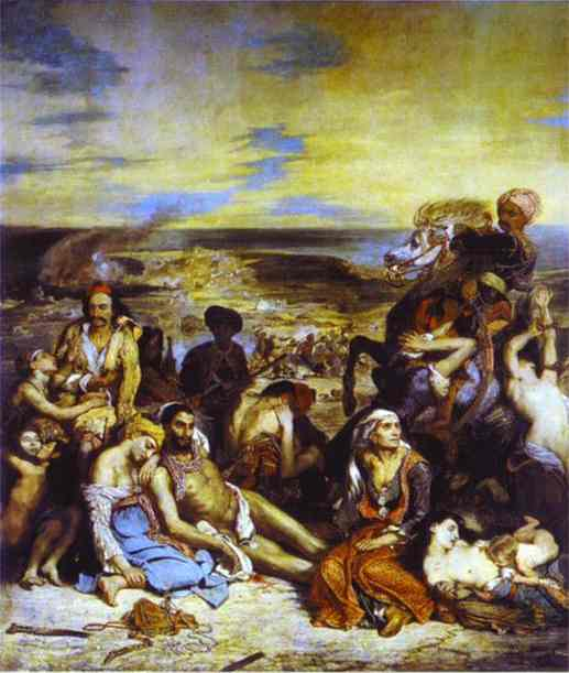 Oil painting:The Massacre of Chios. 1824