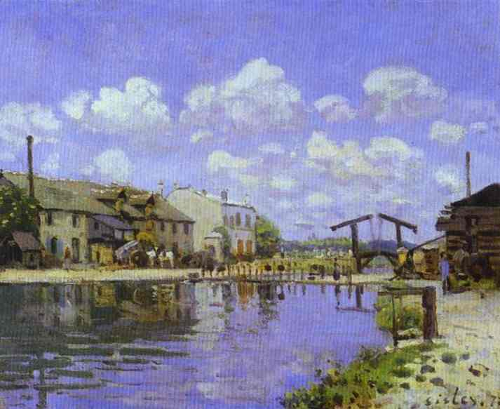 Oil painting:The Saint-Martin Canal. 1872