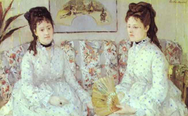Oil painting:The Sisters. 1869