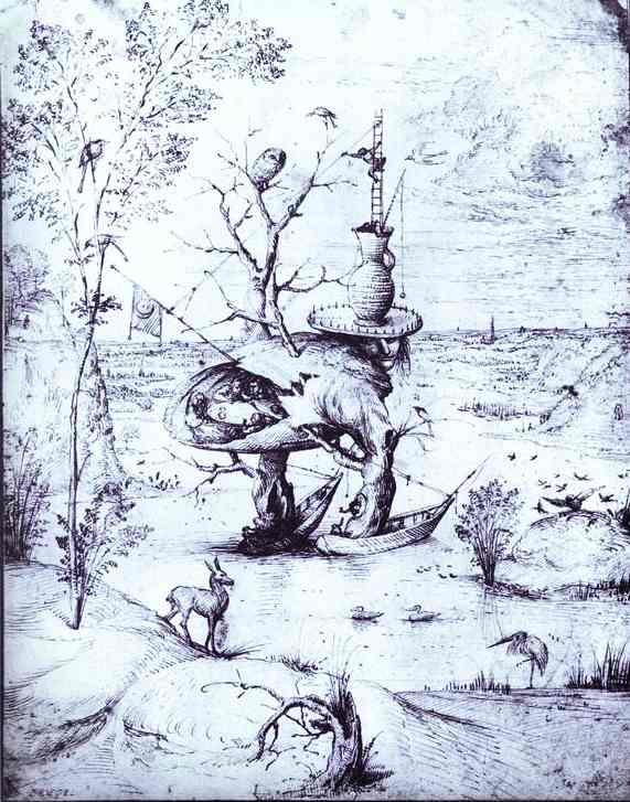 Oil painting:The Tree Man. 1470