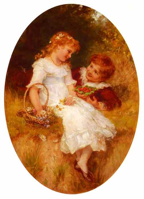 Oil painting for sale:Childhood Sweethearts