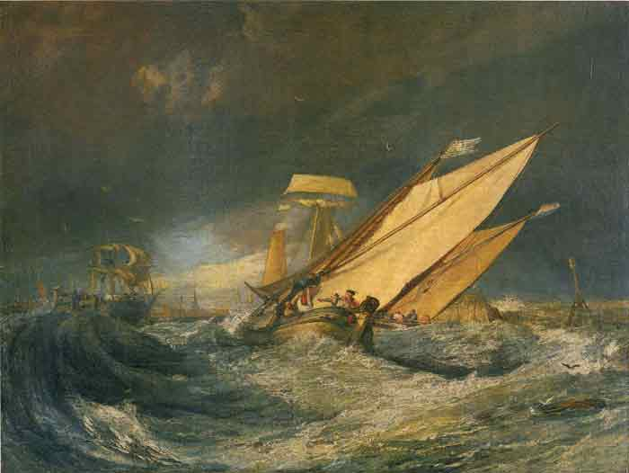 Oil painting for sale:Fishing Boats Entering Calais Harbor, 1803