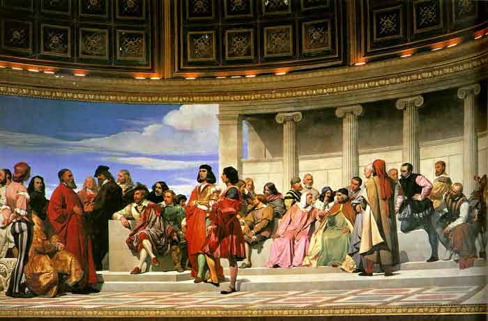 Oil painting for sale:Hemicycle of the Ecole des Beaux-Arts, 1814