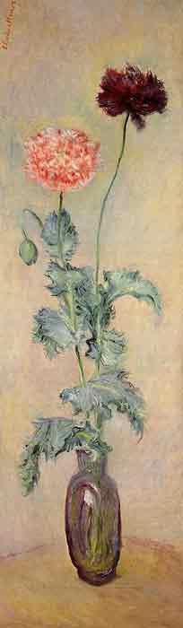 Oil painting for sale:Red and Pink Poppies, 1883