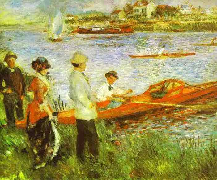 Oarsmen at Chatou. 1879