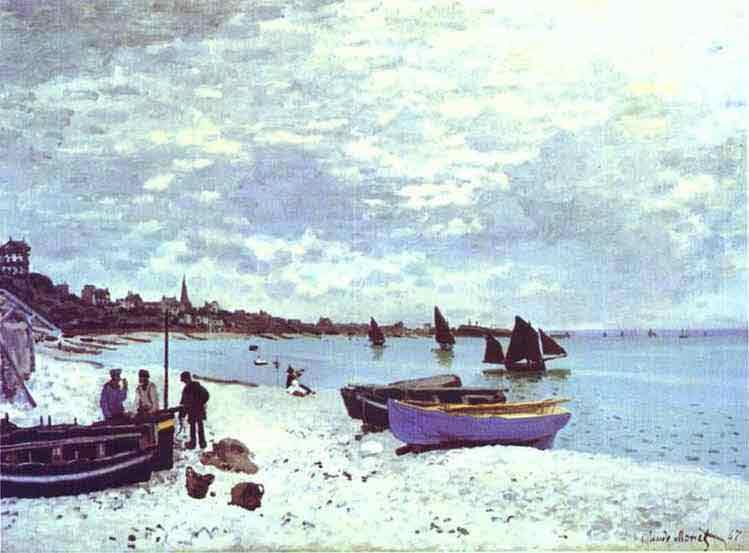 The Beach at Sainte-Adresse 1867.