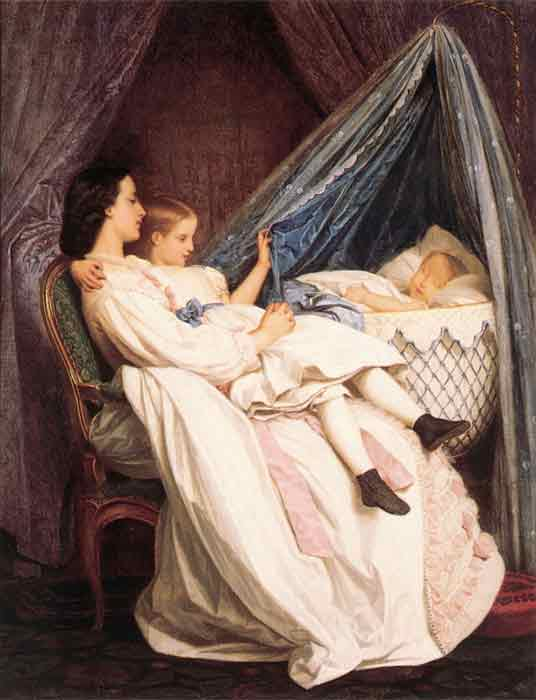 Oil painting for sale:The New Arrival, 1861