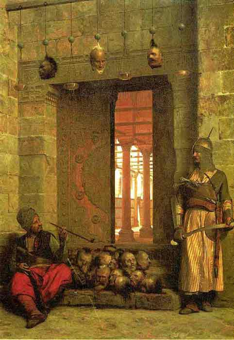 Oil painting for sale:The Door of the El-Hassanein Mosque in Cairo , 1866