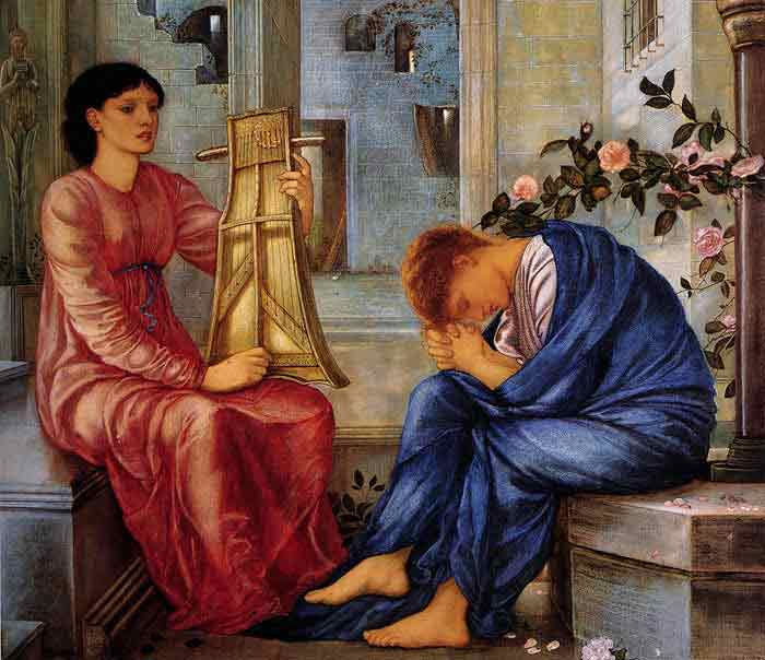 Oil painting for sale:The Lament, 1865-1866