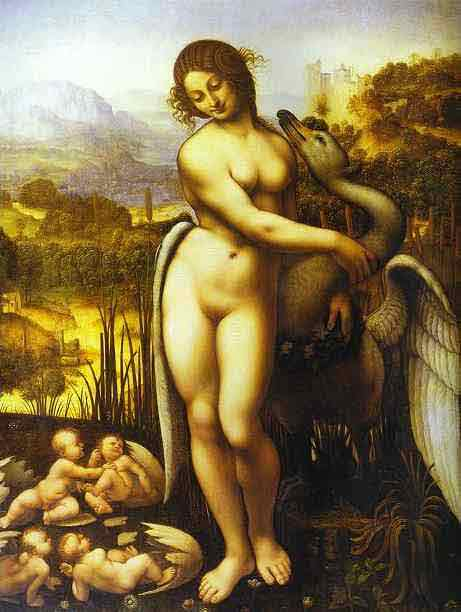 Copy of the Leda and the Swan by Leonardo. c.1505-1510