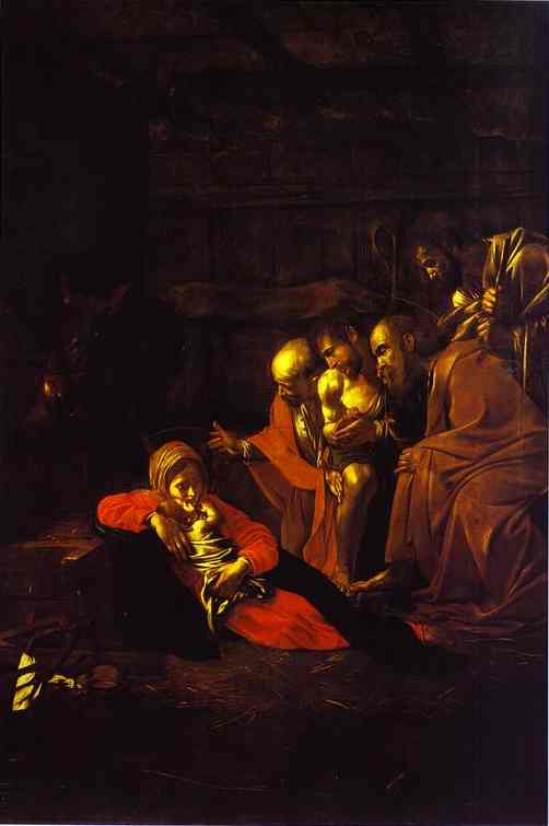 Oil painting:The Adoration of the Shepherds. 1608