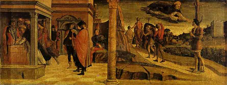 Oil painting:Miracles of St. Vincent Ferrar: He Raises a Dead Infa