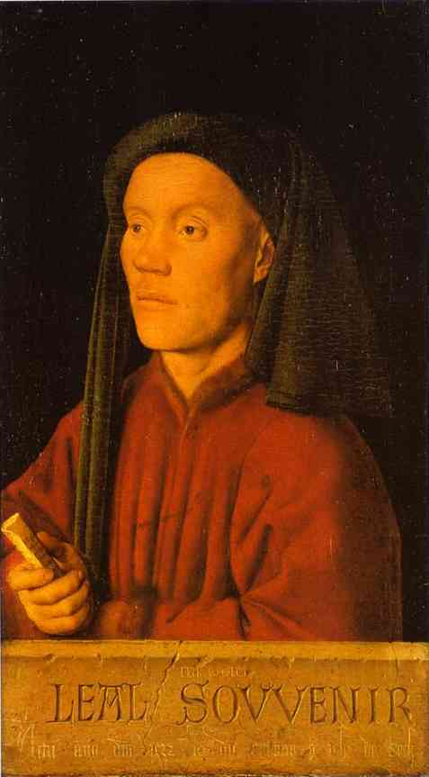 Oil painting:Portrait of a Young Man. 1432