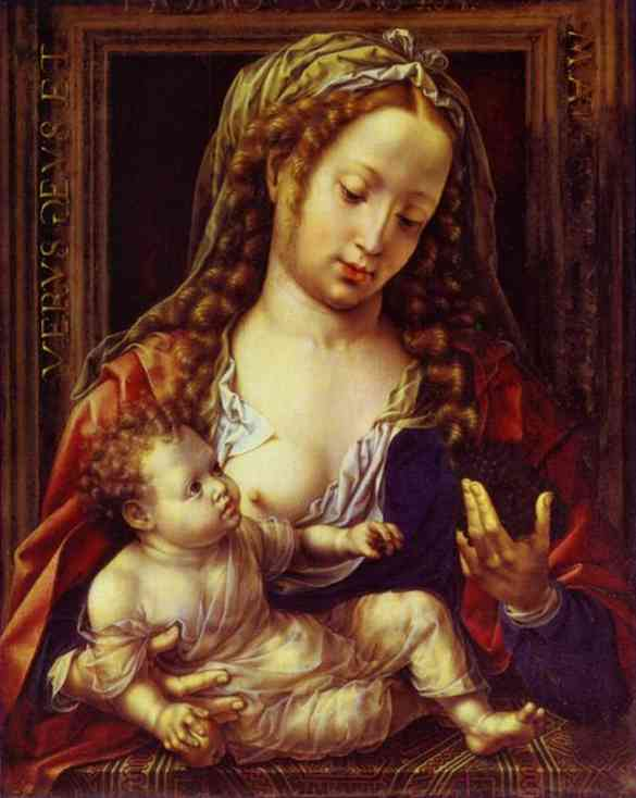 Oil painting:Madonna and Child. c. 1530