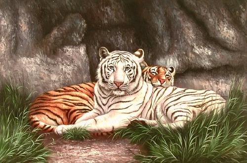 Oil painting for sale:tiger-010