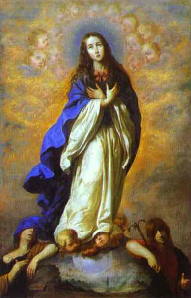 Oil painting:The Immaculate Conception. 1660