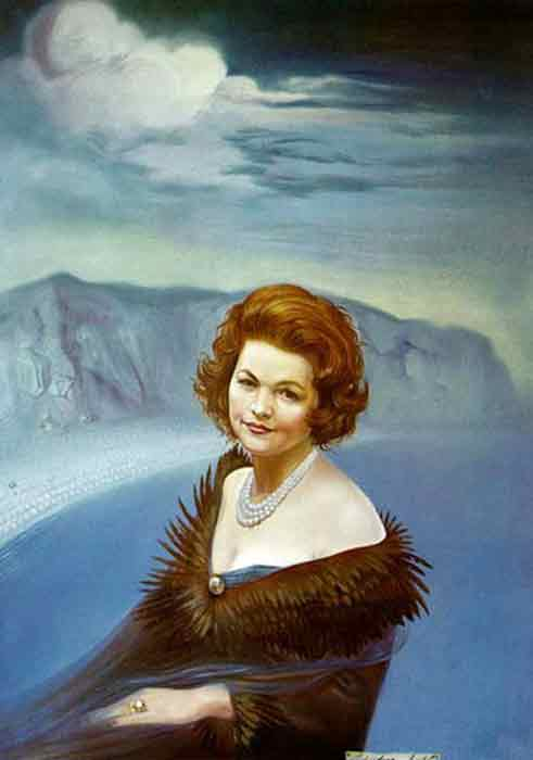 Oil painting for sale:Portrait of Mrs. Ruth Daponte, 1965
