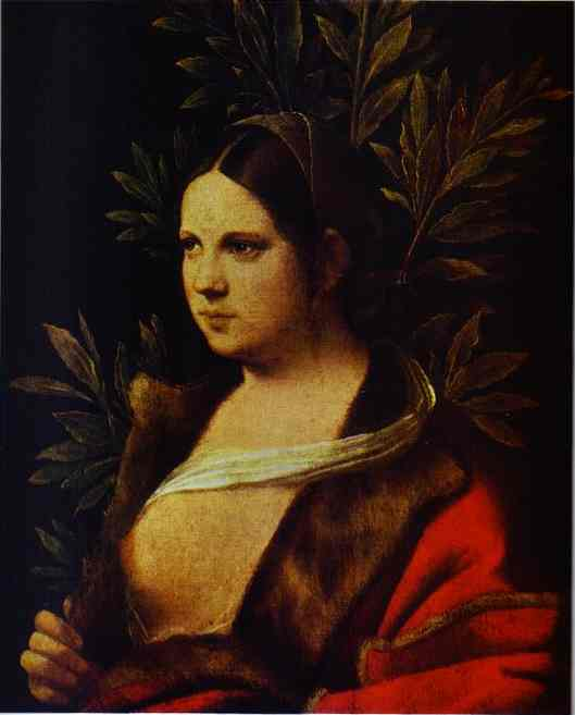 Oil painting:Portrait of a Young Woman (Laura). 1506
