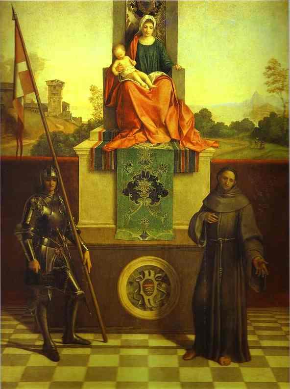 Oil painting:Castelfranco Madonna. c.1506