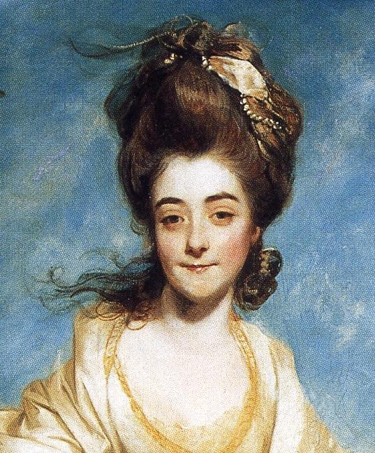 Oil painting:Diana Sackville. Detail. 1777