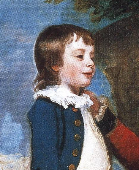 Oil painting:George Grenville, Earl Temple, Mary, Countess Temple, and Their Son Richard. Detail.