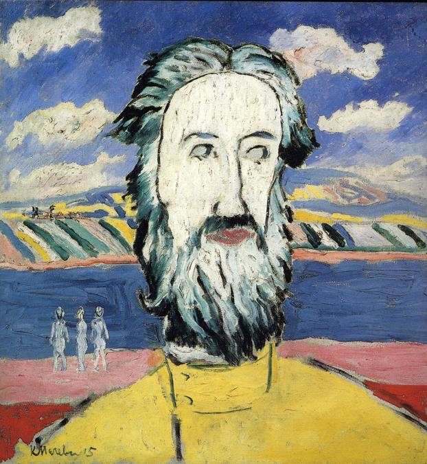 Oil painting:Head of Peasant. 1928