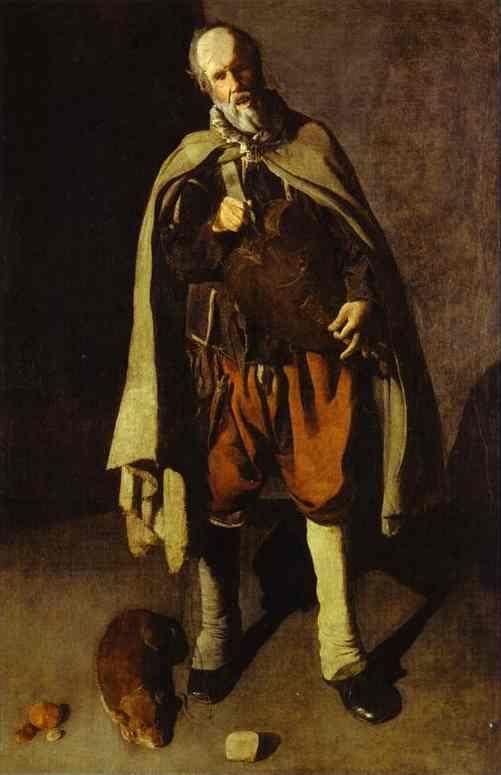 Oil painting:Hurdy-Gurdy Player, also called Hurdy-Gurdy Player with a Dog. c. 1622