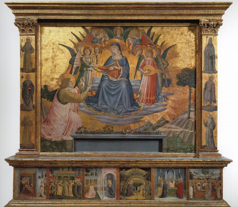 Oil painting:Madonna della Cintola. 1450