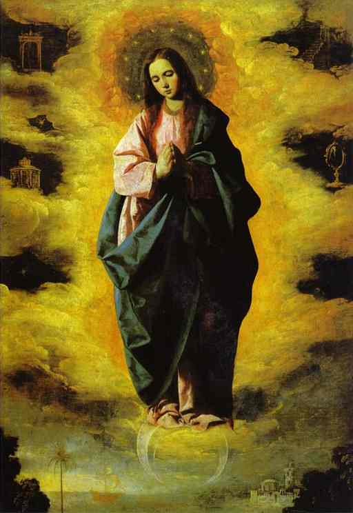 Oil painting:Our Lady of Immaculate Conception. c. 1628