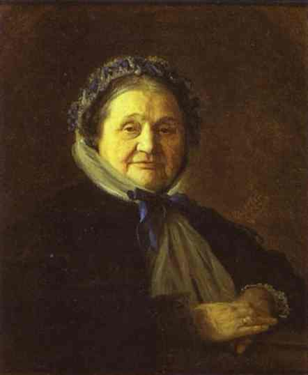 Oil painting:Portrait of V. Voyeykova. 1867