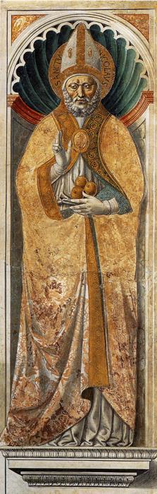 Oil painting:St. Nicholas of Bari. 1464
