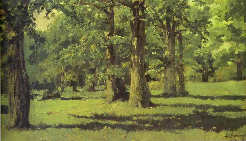 Oil painting:The Oak Grove at Abramtsevo. 1883